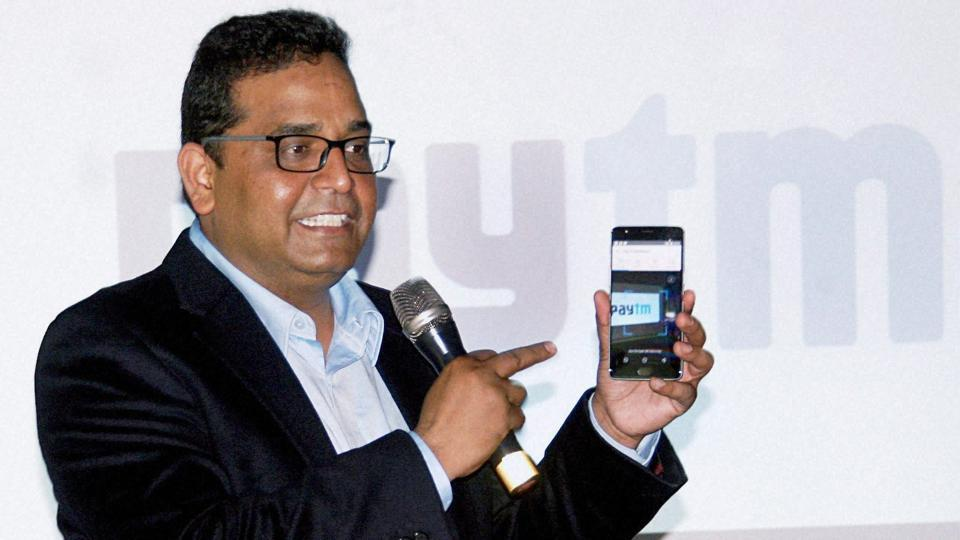Founder and CEO of Paytm, Vijay Shekhar Sharma addressing a press conference in Bangalore on Thursday.