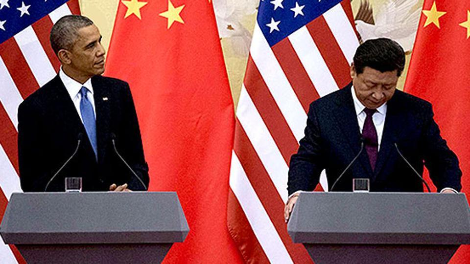 On Obama's watch, China, in less than three years, built seven islands in the South China Sea.