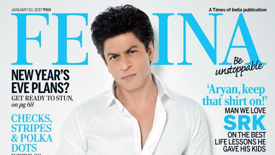 Looking handsome in a crisp white shirt and black trousers, Shah Rukh Khan also sports a clean-shaven look after a long time.