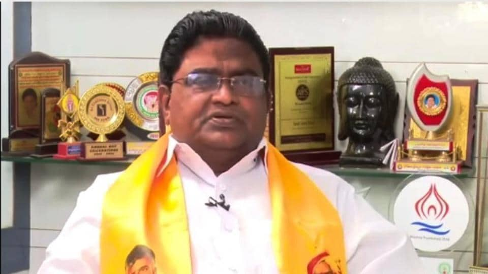 Andhra MLA Jaleel Khan in an interview with a local reporter. (Videograb)