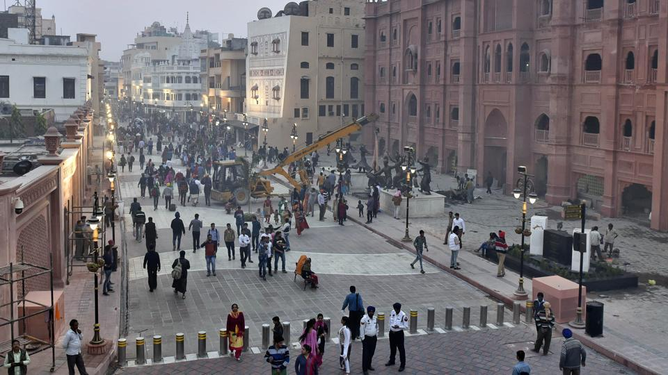 A view of Heritage street in Amritsar.