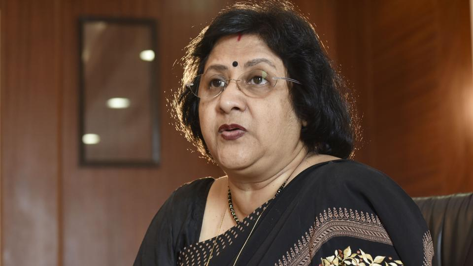 SBI chairman Arundhati Bhattacharya at her office in Mumbai, India, on Thursday, December 29, 2016