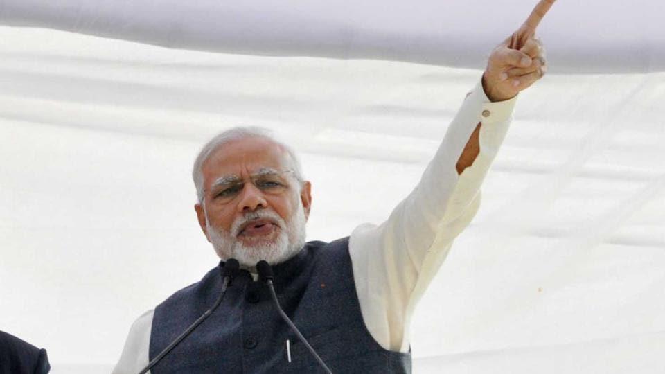 PM Narendra Modi's addresses a rally at Parade Ground in Dehradun, India, on Tuesday, Dec 27, 2016.