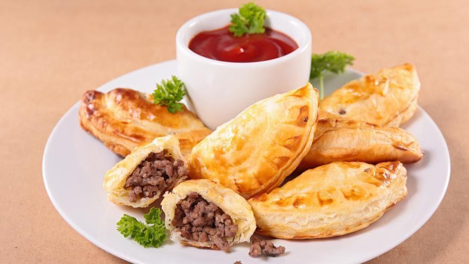 A plate of empanadas.