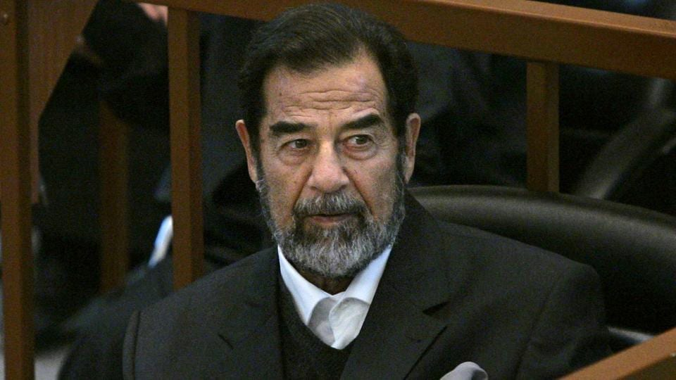 In 2006, Saddam Hussein  was hanged at the military intelligence headquarters in the Kadhimiyah district of northern Baghdad after being found guilty of crimes against humanity.