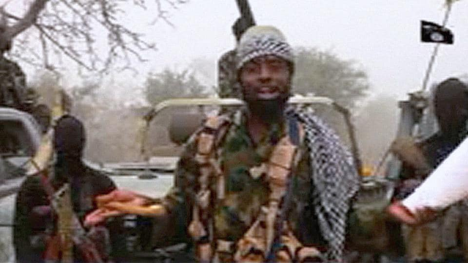 This screen grab image taken on December 29 from a video released on Youtube by Islamist group Boko Haram shows group's leader Abubakar Shekau making a statement at an undisclosed location.