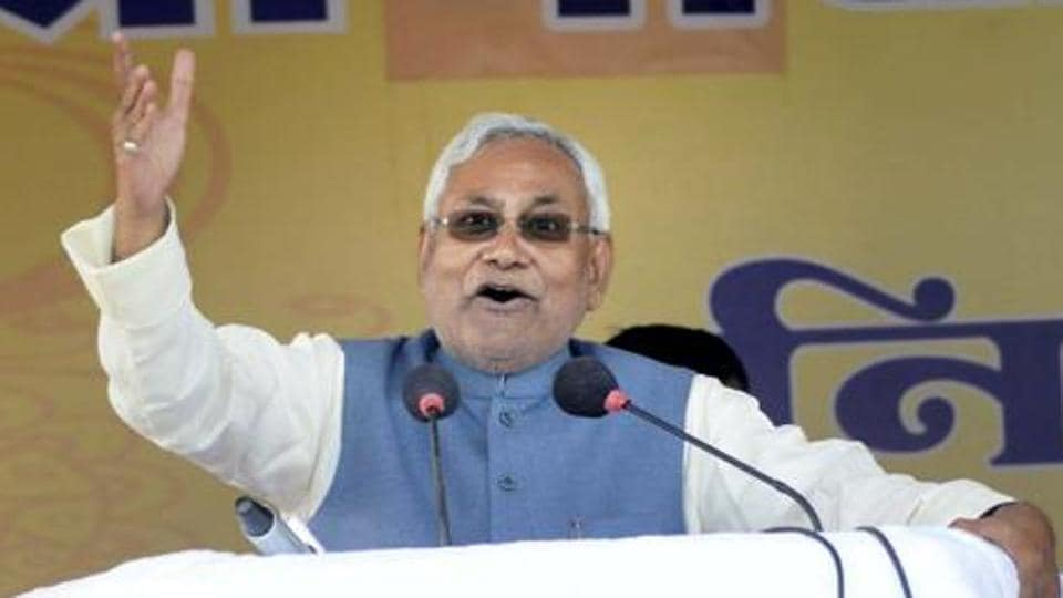 Bihar chief minister and JD(U) president Nitish Kumar during his Nischay Yatra in Sasaram on Thursday. The JD(U) has welcomed the Centr's ordiannce to penalise those in possession of scrapped banknotes post deadline.