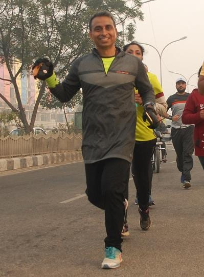 Tarun Walecha,half marathon,athletics