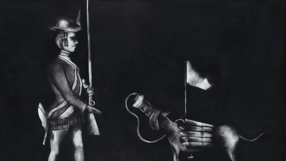 Work image from artist Madhusudhanan's series Penal Colony.