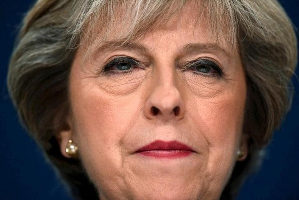 Britain's Prime Minister Theresa May speaks at the annual Conservative Party Conference in Birmingham, Britain, on October 2.