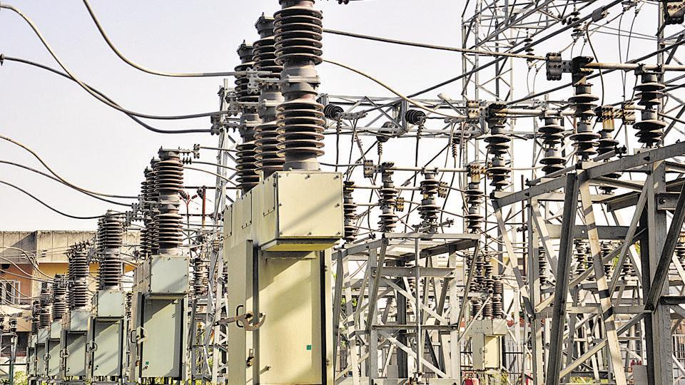 File photo of a power supply facility in India.