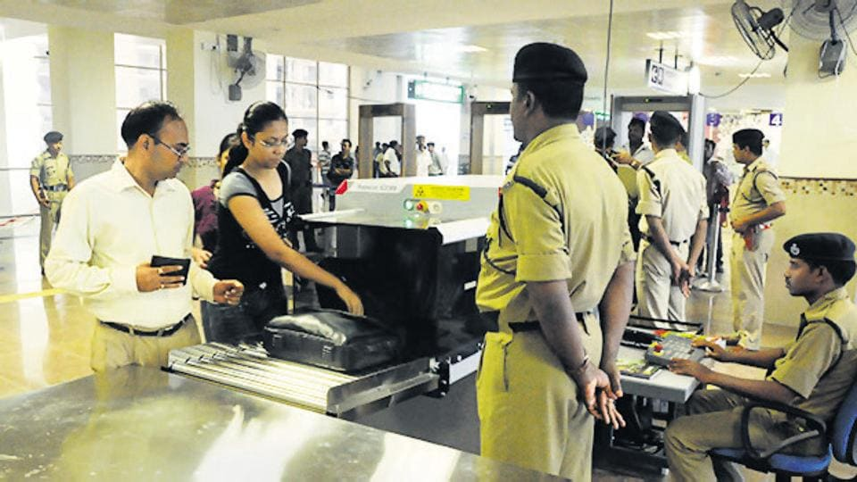 CISFhas spotted some places where passengers can hand over the baggage to the other side without going through security.
