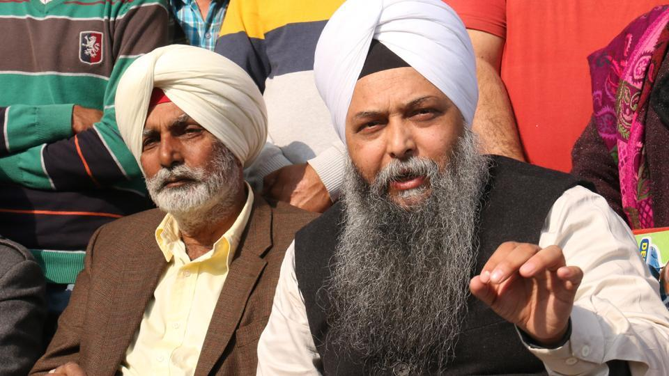 AAP's Lambi candidate Jarnail Singh during a press conference in Bathinda on Thursday.