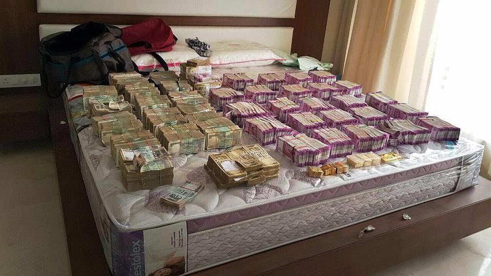 Rs 4.7 crore cash in new currency was seized by Income Tax department in Bengaluru along with Rs 100 and demonetised Rs 500 notes. This is the biggest cash seizure of new notes post de-monetisation.