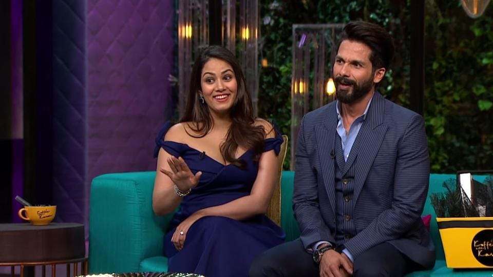 Shahid Kapoor and Mira Rajput on Koffee with Karan.