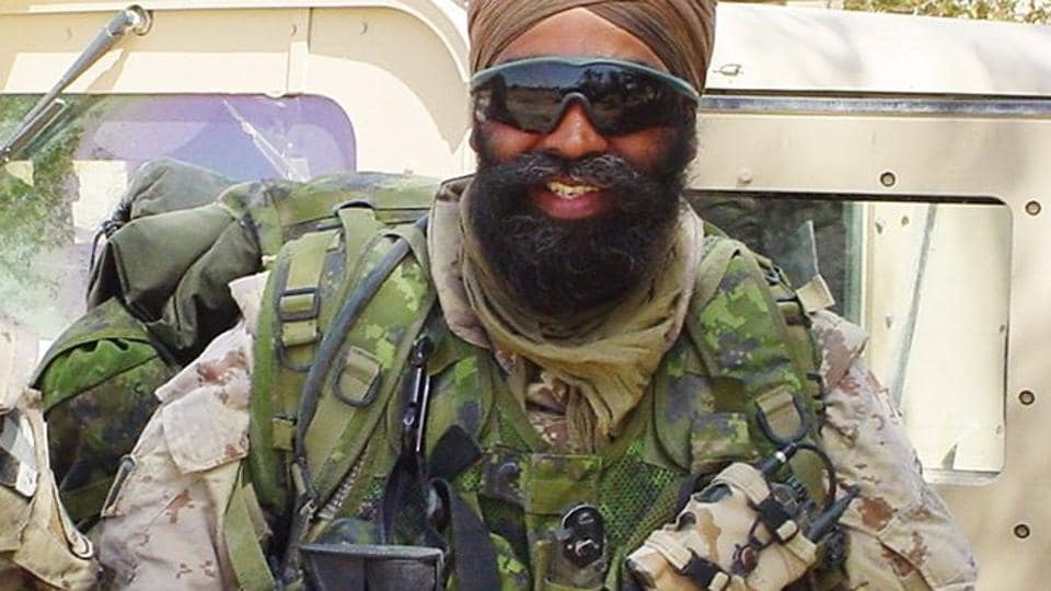 File photo of Canada's defence minister Harjit Sajjan during his tenure in the Canadian armed forces.