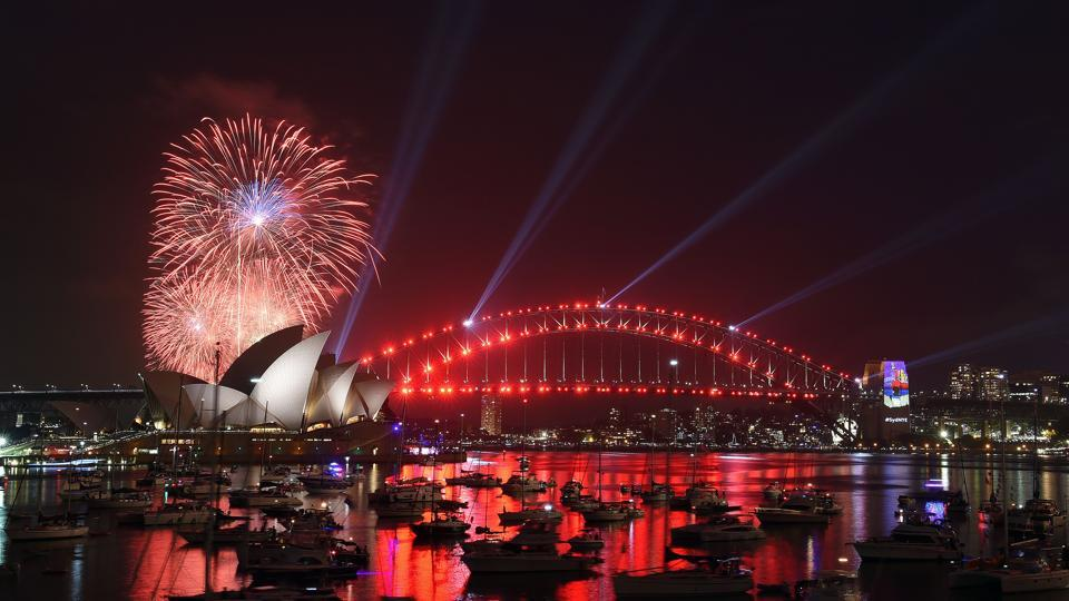 Fireworks illuminate sky above the iconic Opera House in Sydney close to the midnight of December 31, 2016. (AFP)