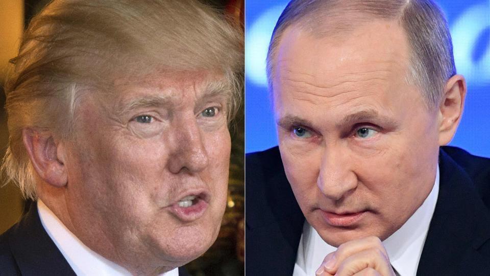 Combination image of US president-elect Donald Trump and Russian President Vladimir Putin.