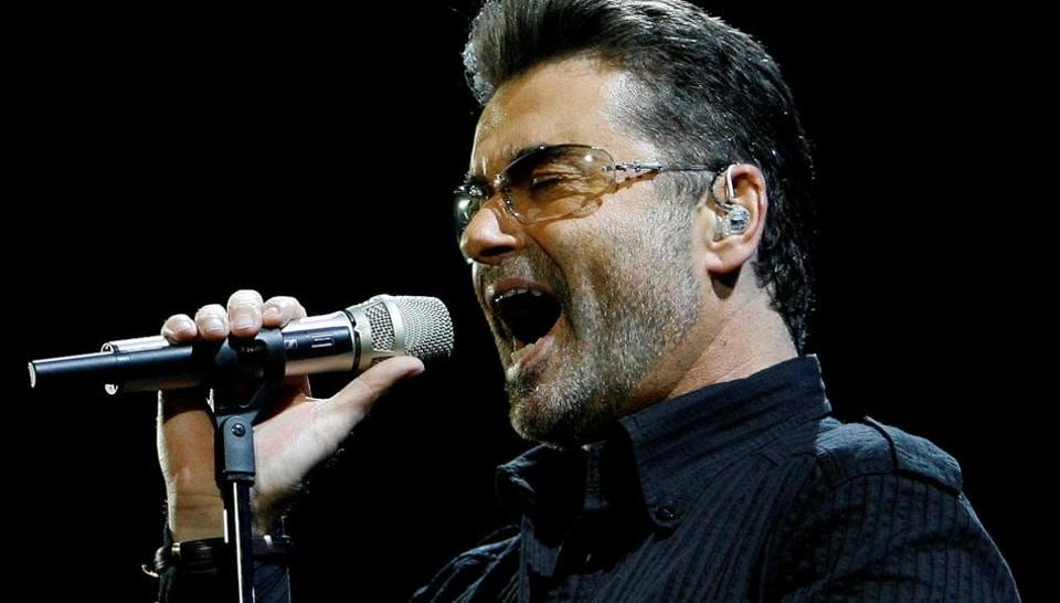 George Michael performs in concert at the Forum during his