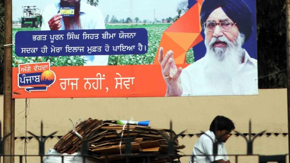 Chief minister Parkash Singh Badal,model code of conduct,EC