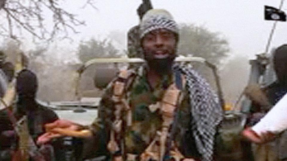 A video released on Youtube by Islamist group Boko Haram shows Boko Haram leader Abubakar Shekau making a statement at an undisclosed location.