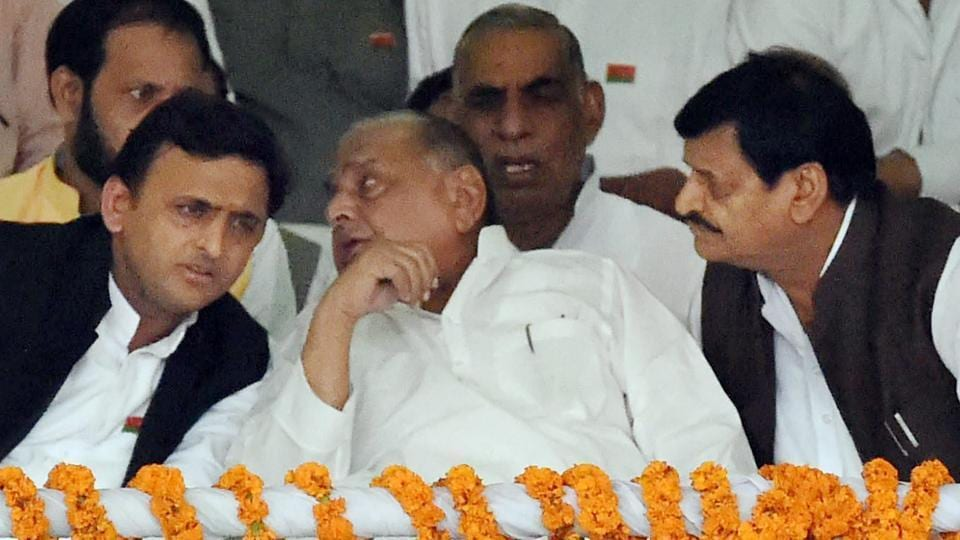 Sources told Hindustan Times Akhilesh Yadav (left) dropped at least a dozen sitting MLAs and leaders close to Shivpal Yadav (right) – who he has had several run-ins in the last six months, with a series of tit-for-tat sackings and expulsions rocking the party.