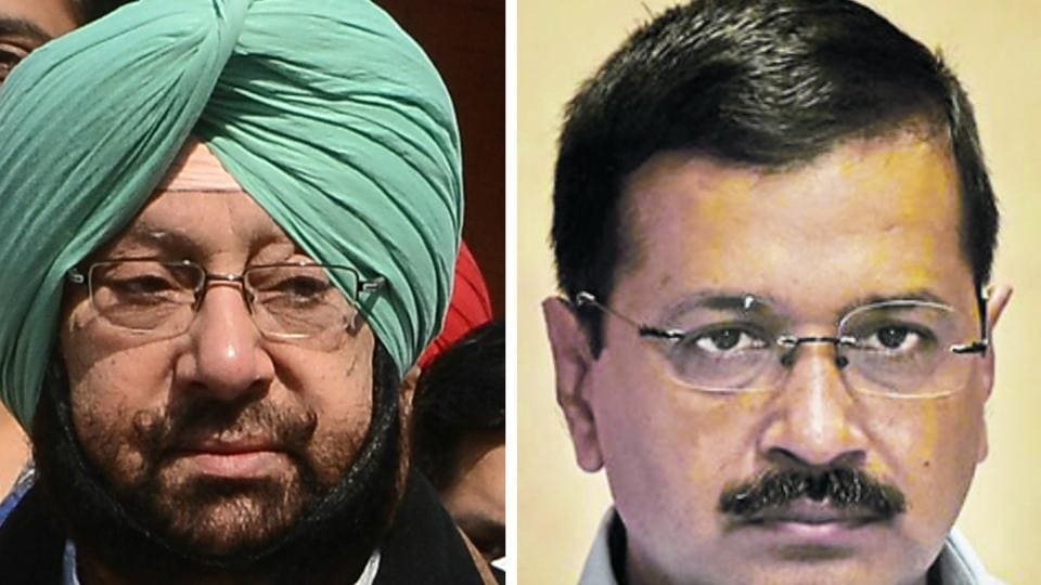 """It all began with Delhi chief minister Arvind Kejriwal taking a dig at state Congress chief Captain Amarinder Singh for """"being drunk after 6pm"""" while addressing a press conference in Amritsar on Friday."""