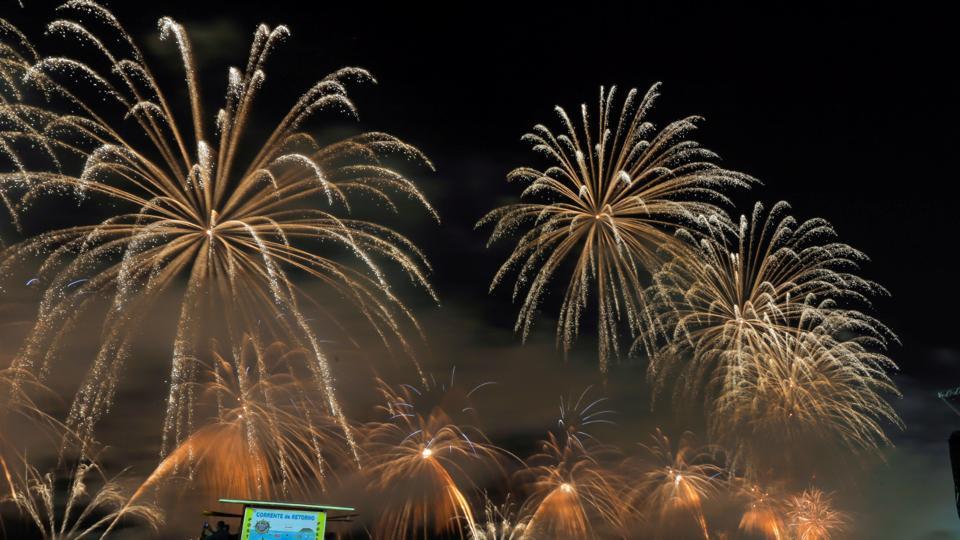Fireworks explode over Copacabana beach during New Year celebrations in Rio de Janeiro, Brazil, January 1.