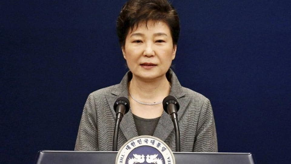 In this  November 29  photo, South Korean President Park Geun-hye makes a televised live address in Seoul, South Korea.