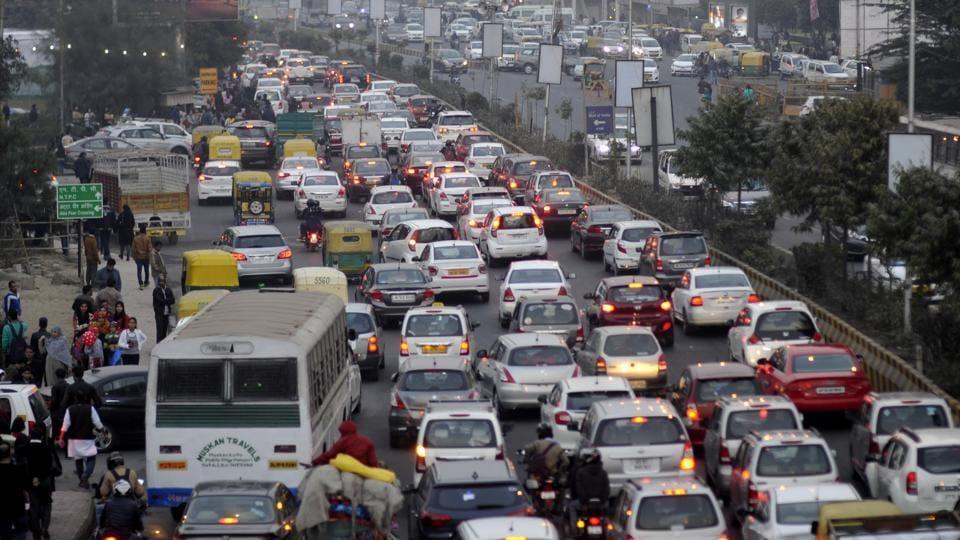 Traffic in Delhi,pollution in Delhi,Delhi roads