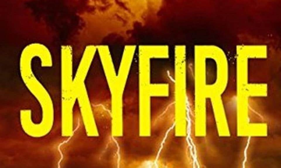 Book cover of Skyfire by Aroon Raman.