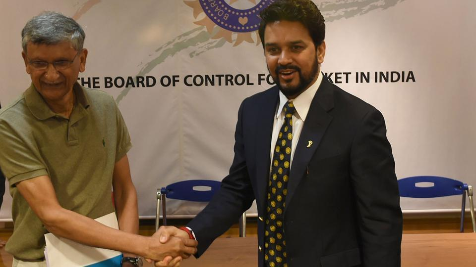Anurag Thakur (right) and Ajay Shirke have been removed as BCCI president and secretary, respectively, by the Supreme Court on Monday. They failed to comply with the Lodha panel reforms