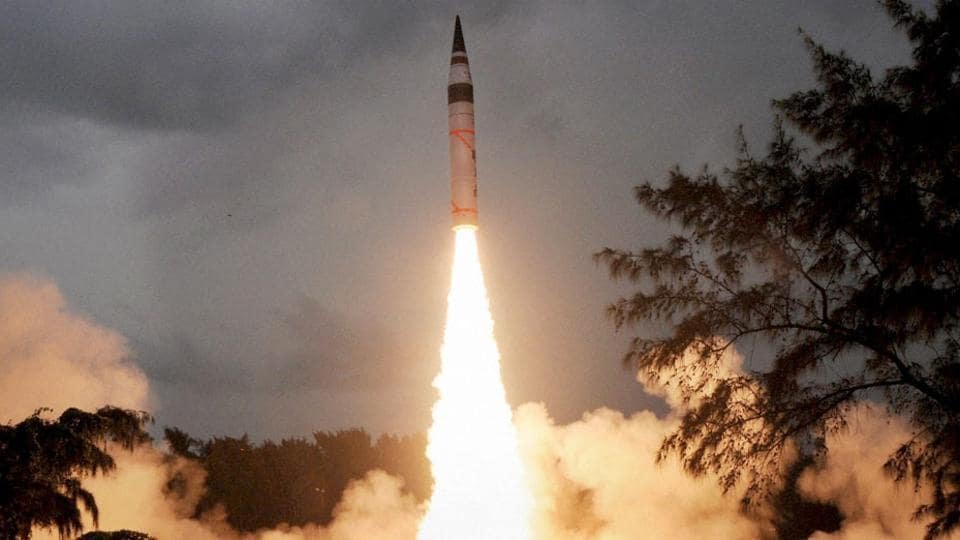 Supported by a mobile launcher, the surface-to-surface missile was flight tested from launch complex-4 of the Integrated Test Range at Dr Abdul Kalam Island.
