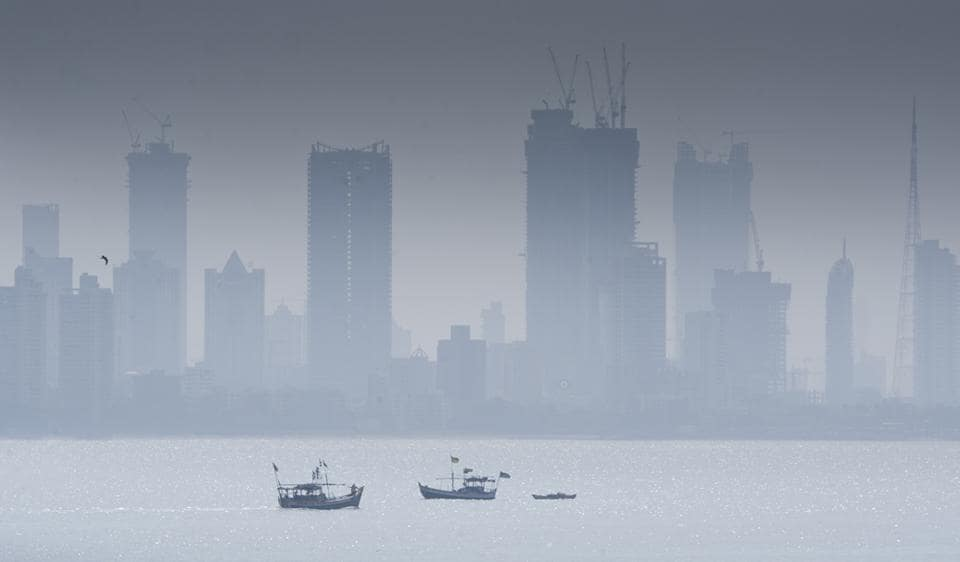 Fishing activity being undertaken at Bandra on a foggy morning.