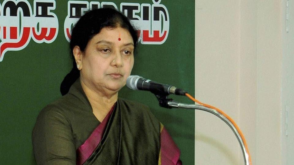AIADMK party general secretary Sasikala Natarajan.