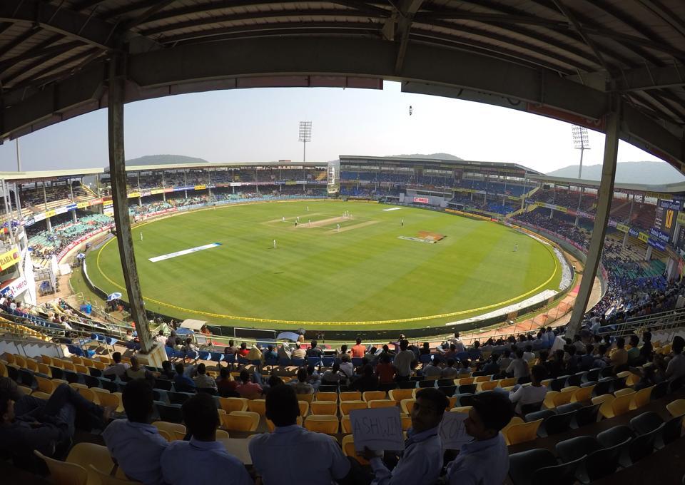 A general view of the Dr Y.S. Rajasekhara Reddy ACA-VDCA cricket stadium in Visakhapatnam.