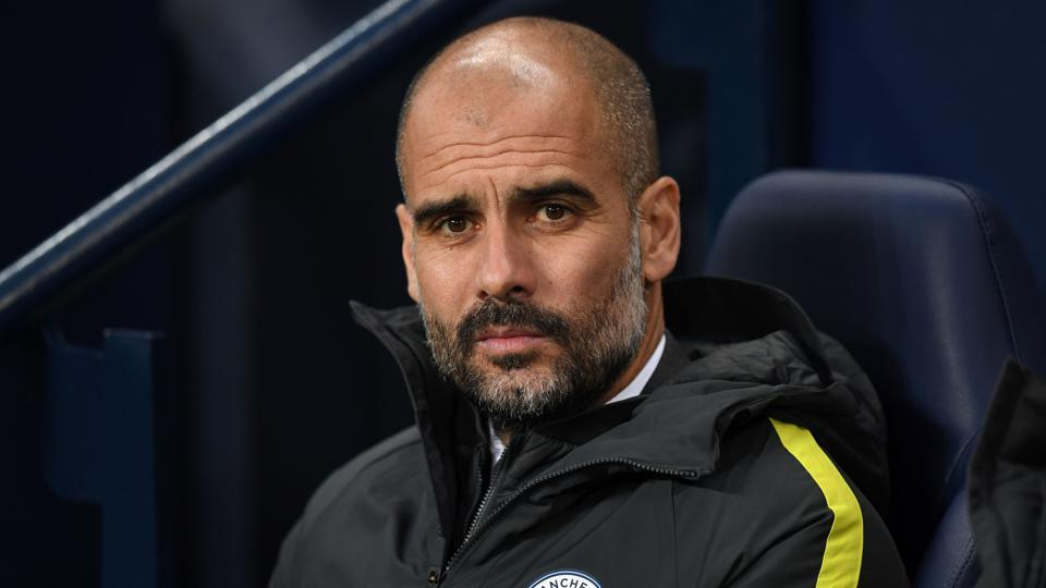 Manchester City FC's  manager Pep Guardiola during his team's Premier League match against Arsenal.