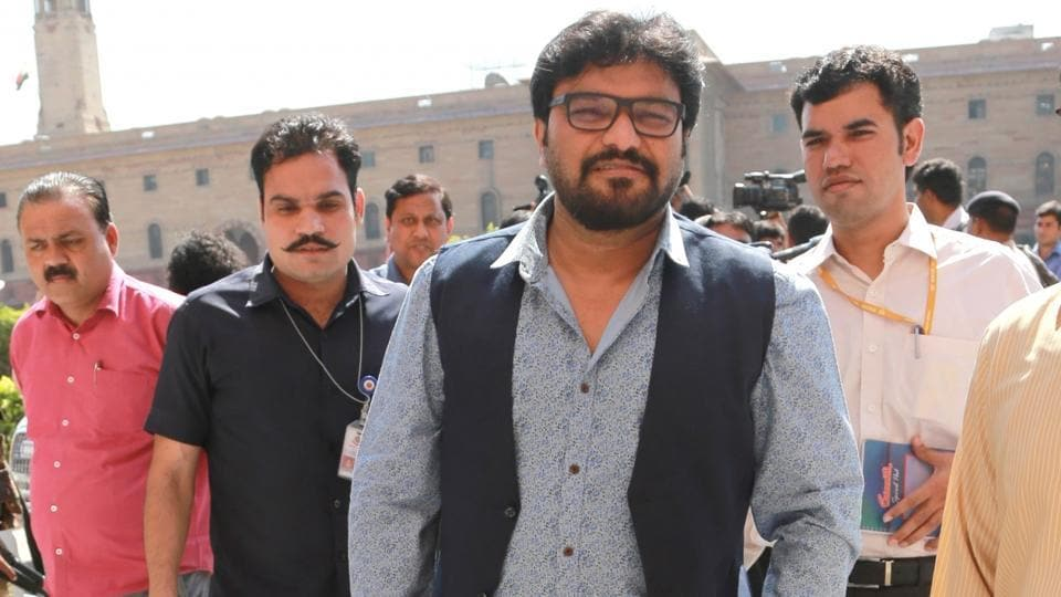 Union minister Babul Supriyo comes out after meeting home minister Rajnath Singh at North Block in New Delhi, in this file photo from October 20, 2016.