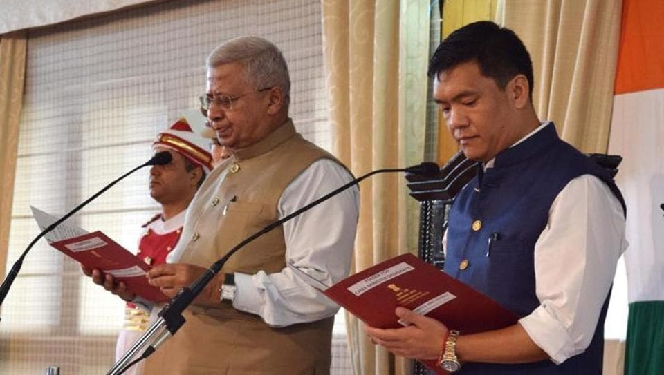 Pema Khandu was sworn in as Arunachal's chief minister on July 17, 2016. On December 29, 2016, Khandu was suspended by his party.  A day later, Khandu joined the BJP with 33 MLAs.