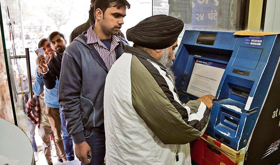 The RBI raised the daily ATM cash withdrawal limit from Rs 2500 to Rs 4500 a day for an individual from January 1.
