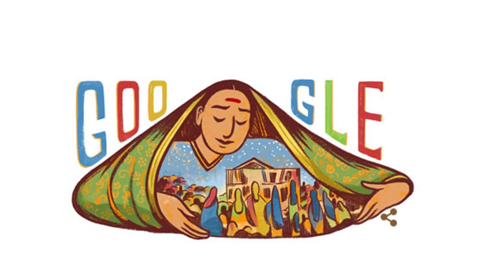 Google pays tribute to the women's rights icon Savitribai Phule on occasion of her 186th birthday in the form of a doodle.