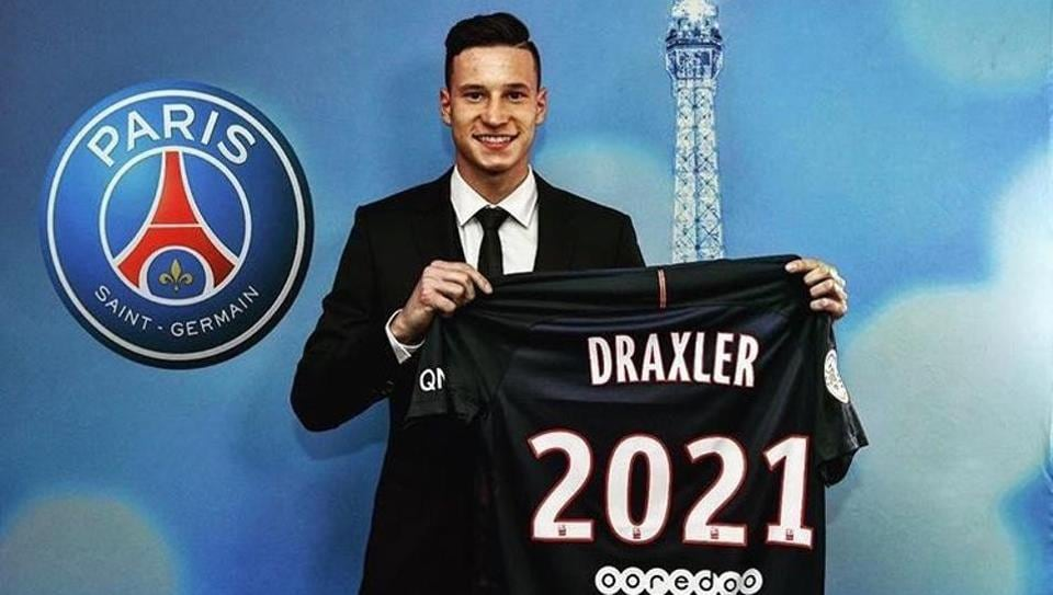 Julian Draxler has joined Paris Saint Germain FC from Wolfsburg FCon a four-year deal.