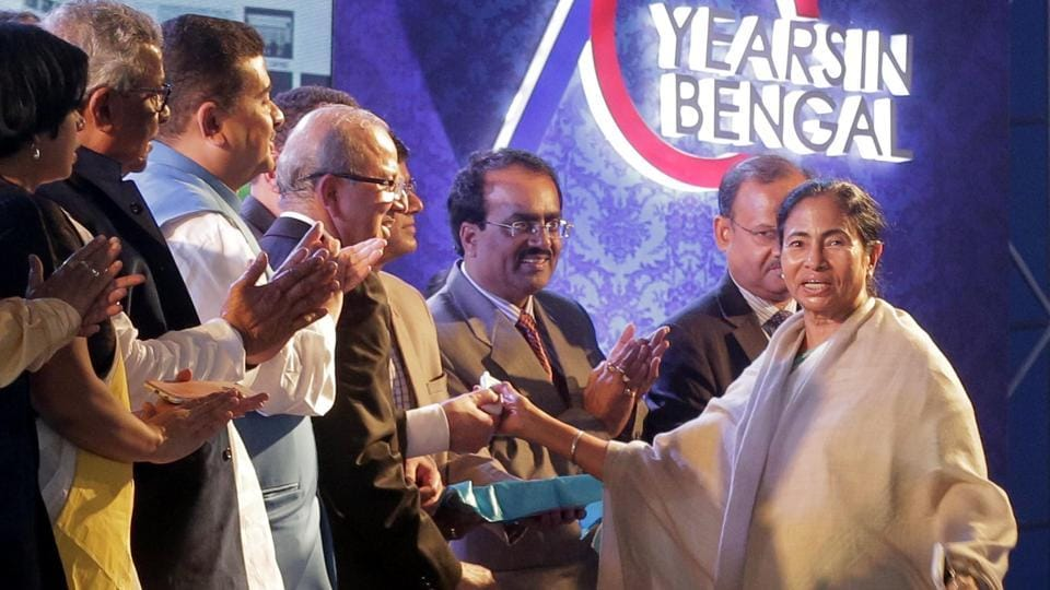 Chief minister Mamata Banerjee at the inauguration of the Exide factory in Haldia on Monday.