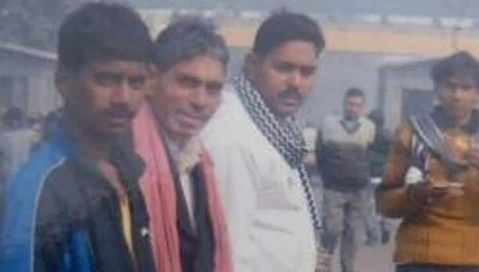 Sompal (extreme left) allegedly died in the custody at Adarsh Nagar police station on December 28.
