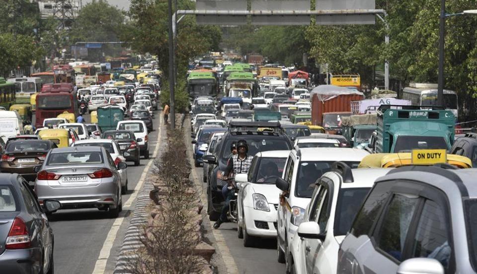 Ashram Chowk,Metro construction,traffic