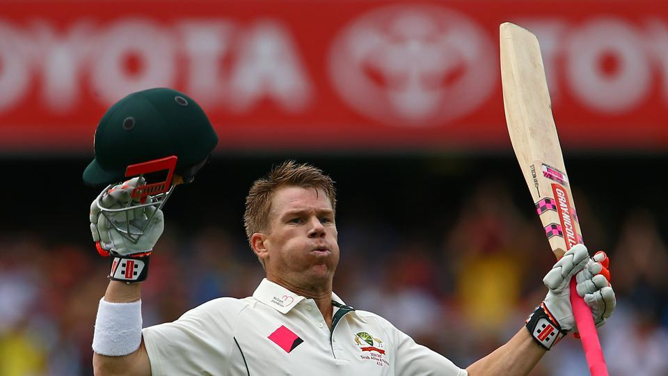 David Warner notched up his 18th century off just 78 balls. This was his 18th Test century and his third against Pakistan. (REUTERS)
