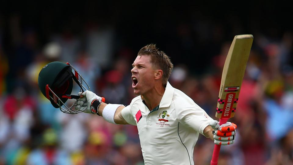 However, Warner achieved a unique feat as he became the fifth batsman in history to have scored a century before lunch on the first day of a Test match. (REUTERS)