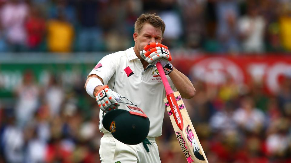 Warner became the fourth Australian to achieve this feat and it was the first time it was achieved in a Test match in Australia. (REUTERS)