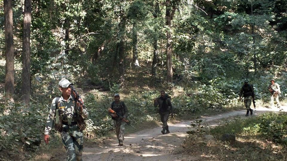 Security forces comprising CRPF and district armed police personnel launched a massive anti-Maoist operation based on information that some Maoists of Kanu Munda squad had assembled in the forest.
