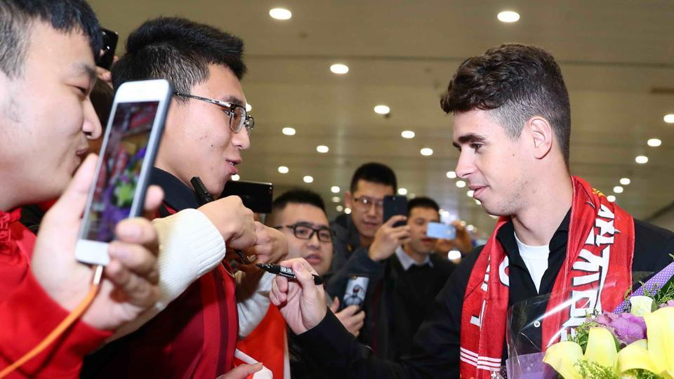 Oscar will play for Shanghai SIPG in the Chinese Super League after a record 60-million-euro deal from Chelsea.